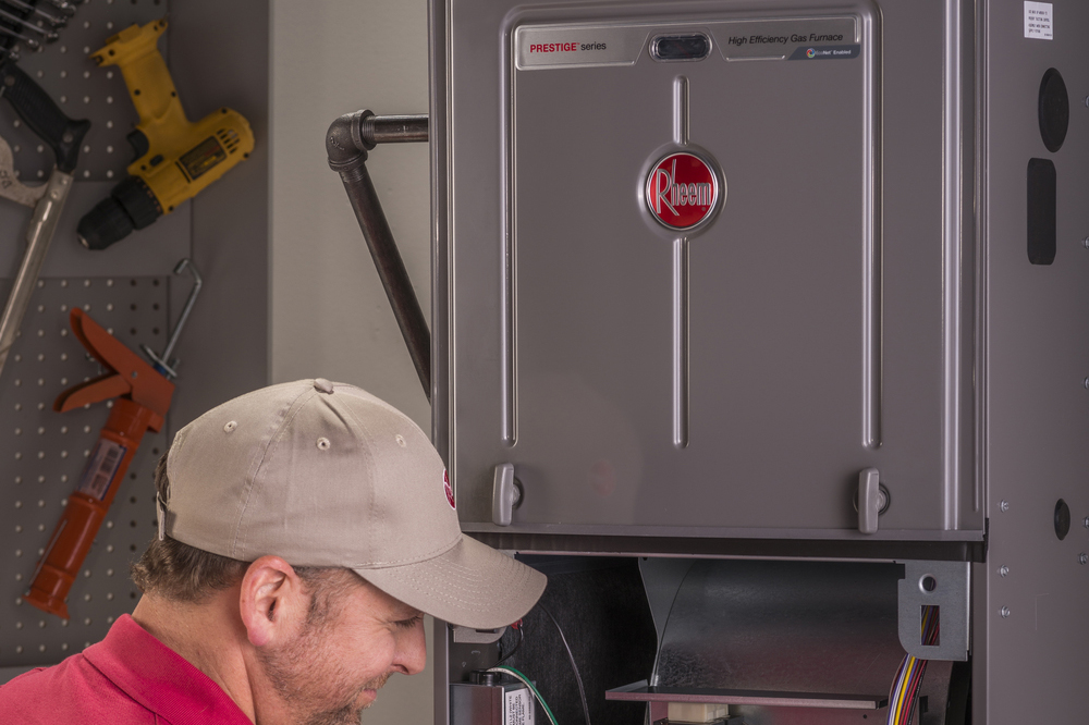 Edwards Plumbing and Heating Iowa Rheem Gas Furnace