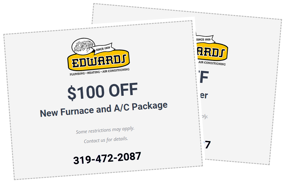 Edwards Plumbing and Heating in Iowa Coupons and Savings